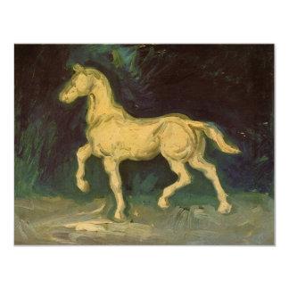 Van Gogh Plaster Statuette of a Horse, Vintage Art Card