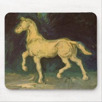 Van Gogh Plaster Statuette of a Horse, Vintage Art Mouse Pad
