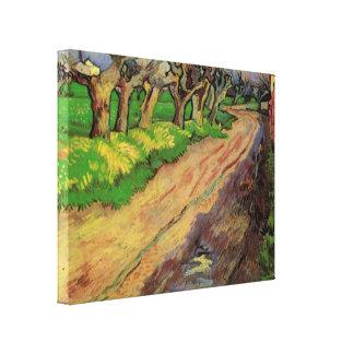 Van Gogh Pollard Willows, Vintage Landscape Art Canvas Print