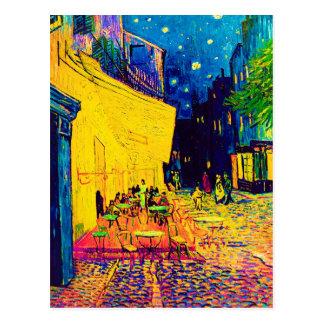 Van Gogh Pop Art Cafe Terrace At Night Postcard