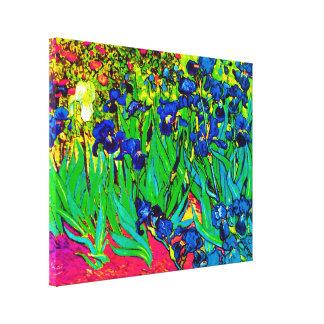 Van Gogh - Pop Art Irises Canvas Print