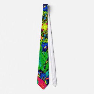 Van Gogh - Pop Art Irises Tie