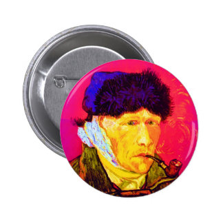 Van Gogh Pop Art Self-Portrait With Bandaged Ear Pin