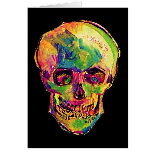 Van Gogh Pop Art Skull Greeting Card