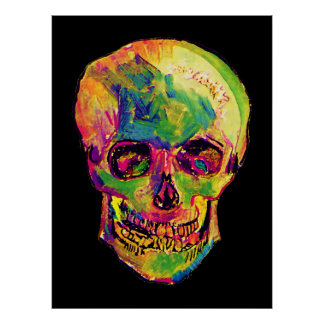 Van Gogh Pop Art Skull Large Size Poster