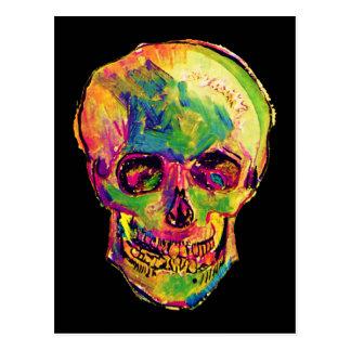 Van Gogh Pop Art Skull Postcard