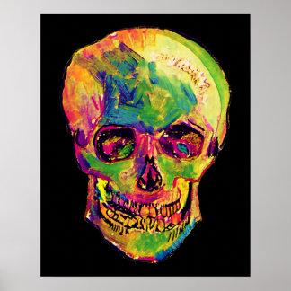 Van Gogh - Pop Art Skull Poster