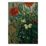 Van Gogh Poppies and Butterflies (F748) Fine Art Greeting Cards
