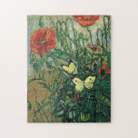 Van Gogh Poppies and Butterflies (F748) Fine Art Puzzles