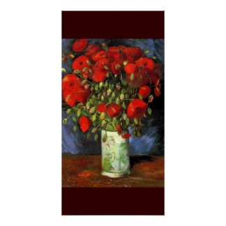 Van Gogh Poppies Red Flowers Vase Peace Love Color Poster