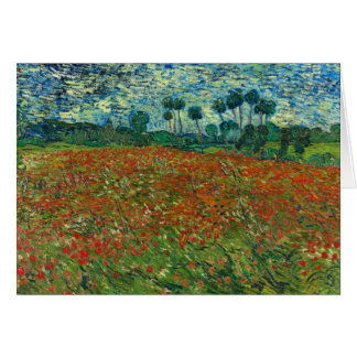 Van Gogh Poppy Field Card