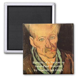 Van Gogh Portrait of a Patient Saint Paul Hospital Fridge Magnets
