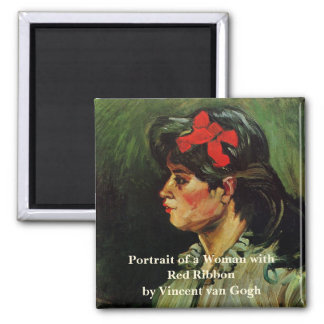 Van Gogh, Portrait of a Woman with Red Ribbon Magnet