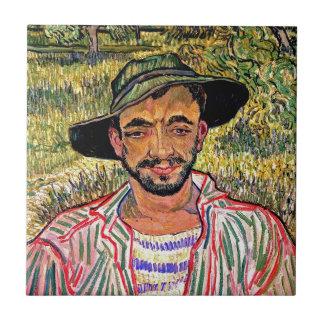 Van Gogh - Portrait Of A Young Peasant Ceramic Tile