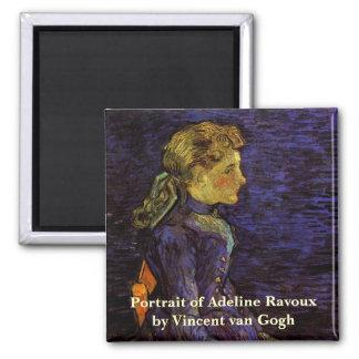 Van Gogh, Portrait of Adeline Ravoux, Vintage Art Magnets