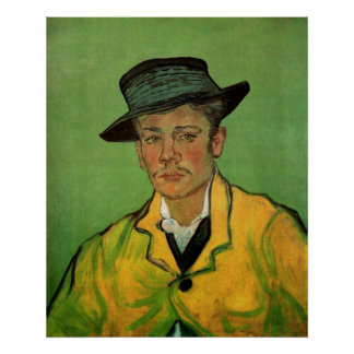 Van Gogh, Portrait of Armand Roulin, Vintage Art Poster