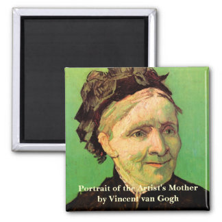 Van Gogh; Portrait of Artist's Mother, Vintage Art Magnet