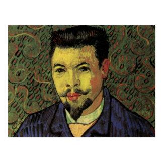 Van Gogh Portrait of Doctor Felix Rey, Vintage Art Postcard