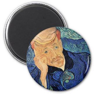 Van Gogh - Portrait Of Doctor Gachet 2 Inch Round Magnet