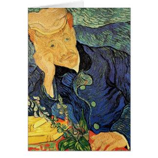 Van Gogh; Portrait of Doctor Gachet, Vintage Art Greeting Card