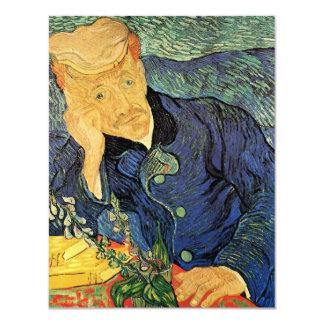 "Van Gogh; Portrait of Doctor Gachet, Vintage Art 4.25"" X 5.5"" Invitation Card"