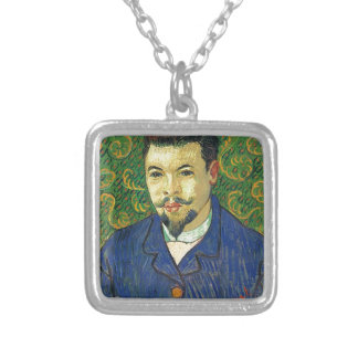 Van Gogh   Portrait of Dr. Félix Rey   1889 Square Pendant Necklace
