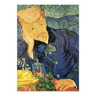 """Van Gogh; Portrait of Dr Gachet; Retirement Party 5"""" X 7"""" Invitation Card"""
