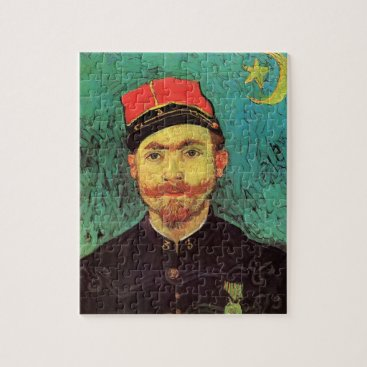 Van Gogh; Portrait of Milliet, Lieutenant Soldier Jigsaw Puzzle