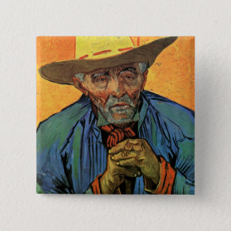 Van Gogh Portrait of Patience Escalier Vintage Art Pinback Button
