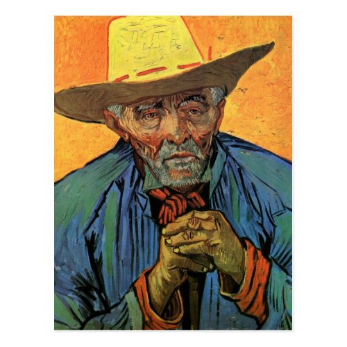 Van Gogh Portrait of Patience Escalier Vintage Art Postcard