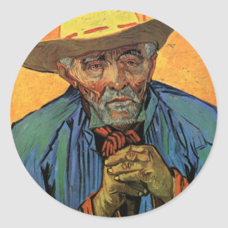 Van Gogh Portrait of Patience Escalier Vintage Art Sticker