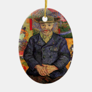 Van Gogh, Portrait of Père Tanguy, Vintage Art Ceramic Ornament