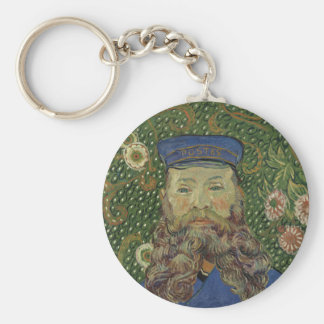 Van Gogh | Portrait of Postman Joseph Roulin II Basic Round Button Keychain