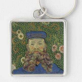 Van Gogh | Portrait of Postman Joseph Roulin II Silver-Colored Square Keychain