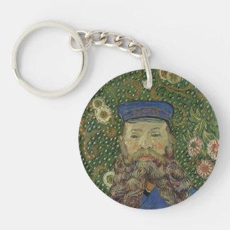Van Gogh | Portrait of Postman Joseph Roulin II Single-Sided Round Acrylic Keychain
