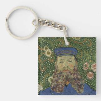 Van Gogh | Portrait of Postman Joseph Roulin II Single-Sided Square Acrylic Keychain