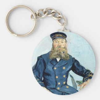 Van Gogh | Portrait of the Postman Joseph Roulin Basic Round Button Keychain