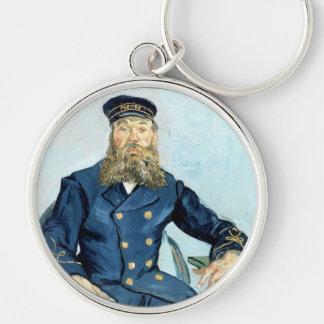 Van Gogh | Portrait of the Postman Joseph Roulin Silver-Colored Round Keychain