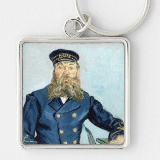 Van Gogh | Portrait of the Postman Joseph Roulin Silver-Colored Square Keychain