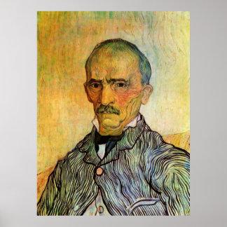 Van Gogh Portrait of Trabuc, Vintage Impressionism Poster