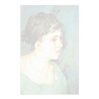 van Gogh   Portrait of Woman in Blue   1885 Stationery