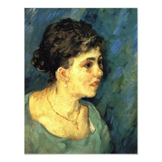Van Gogh, Portrait of Woman in Blue, Vintage Art Card