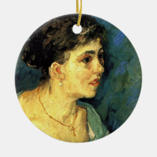 Van Gogh, Portrait of Woman in Blue, Vintage Art Ornament