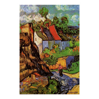 """Van Gogh Posters - """"Houses in Auvers"""" 1890 - Art"""