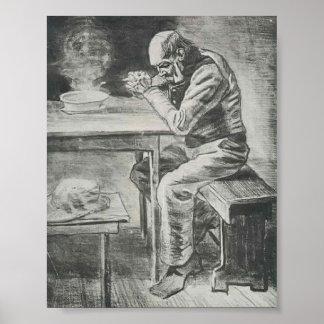 Van Gogh - Prayer Before the Meal Poster