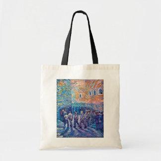 Van Gogh - presos que caminan la ronda Bolsa Tela Barata