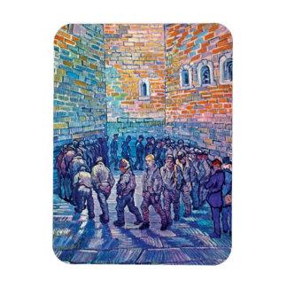 Van Gogh - presos que caminan la ronda Imán De Vinilo