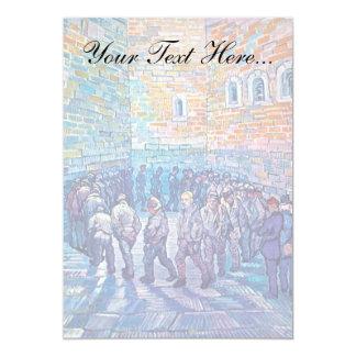 """Van Gogh - presos que caminan la ronda Invitación 5"""" X 7"""""""