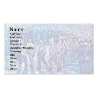 Van Gogh - Prisoners Walking The Round Double-Sided Standard Business Cards (Pack Of 100)