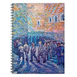 Van Gogh - Prisoners Walking The Round Spiral Notebook
